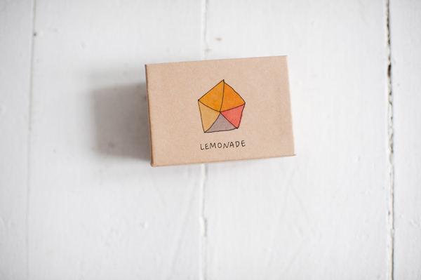 lemonade polyhedron necklace
