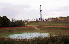 Photoshop Natural Gas Bonanza (Western PA Marcellus Shale Drilling) Tags: usa photoshop pond edited houston pa rig drilling marcellus shale
