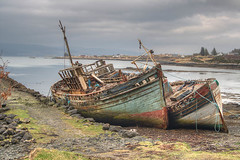 In For Repairs (BoboftheGlen) Tags: uk beach bay coast scotland boat argyll shore sound wreck mull salen the4elements