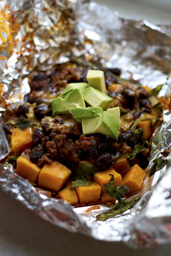 sweet potato taco foil packet