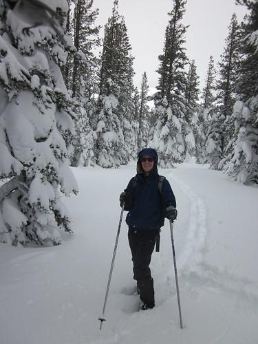 Romy Snowshoeing Tahoe