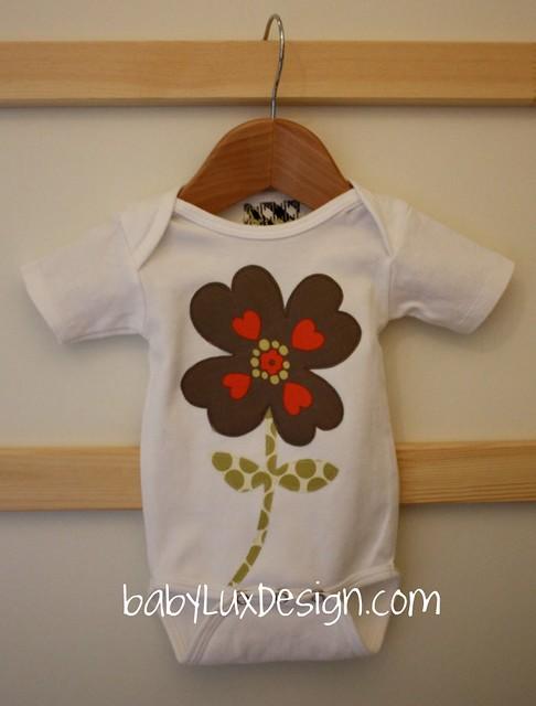 Mocha Blossom- onesie
