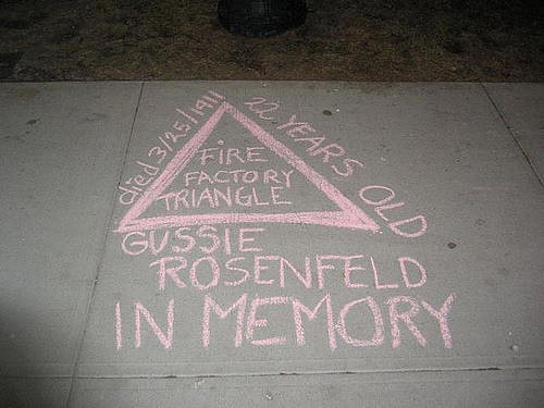 Chalk: Honoring a Triangle Factory Fire Victim