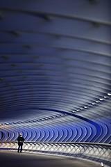 Walking away from the Blue Bridge (Iñigo Escalante) Tags: photography photographer retrato iñigo bilbao fotografia bizkaia vasco euskadi vizcaya escalante bilbo pais fotografo barakaldo baracaldo euskal herria fotografobilbao fotografobarakaldo
