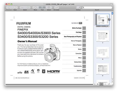 Fuji S4000 Manual