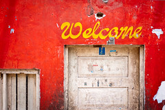 Welcome to India (thedot_ru) Tags: travel india colors sign geotagged canon20d indian 2006 welcome showcase