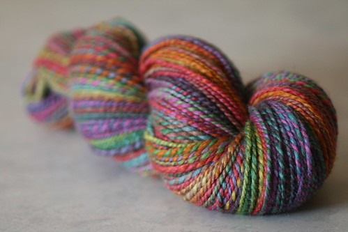 Whimsy~ Yarnoodles 'Eventide' on BFL/Silk Handspun