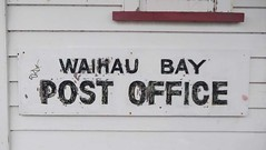 Waihau Bay Post Office - Sign