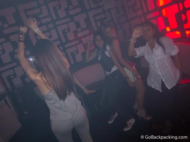 MIA VIP offers plenty of room for dancing.