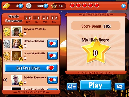 Diamond Dash Score Board: screenshots, UI