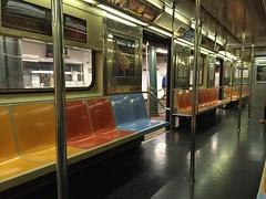 beginning of the journey (Hayashina) Tags: usa newyork hbm bench seat metro