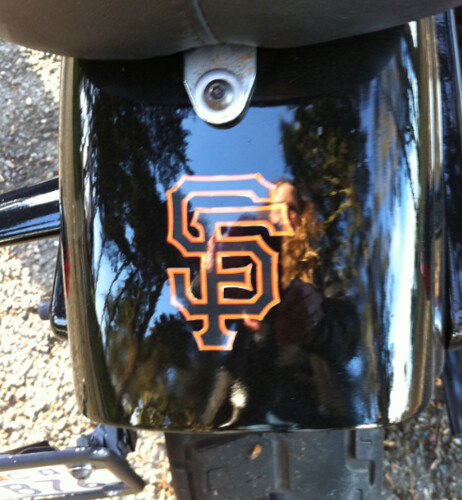 SF Giants bike and sticker