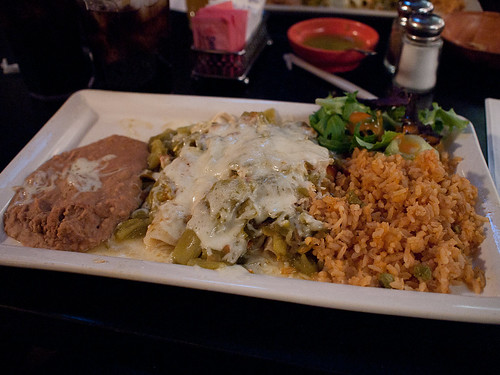 Green Chicken Enchiladas - L & R Cafe