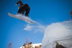 Piste de dcollage (Guillaume Chagnard Photographie) Tags: snow jump surf nicolas snowboard neige snowboarder saut ceillac