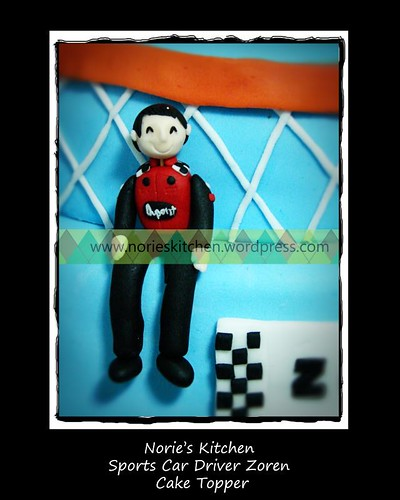 Norie's Kitchen - Zoren Legaspi's Birthday Cake - Sports Car Driver Topper