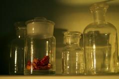 Almost empty (Zdenko Zivkovic) Tags: food hot glass dry jar spicy habanero sealed shaddows medicinejar redsavina