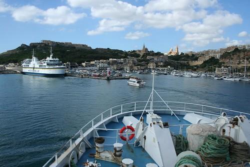 Gozo Island ferry boat Malta