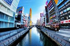 Dotonbori River from Ebisu Bridge, Chuo-ku, Osaka