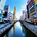 Dotonbori River from Ebisu Bridge, Chuo-ku, Osaka by hidesax