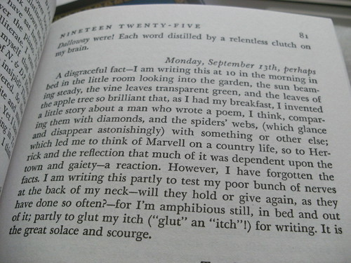 Entry from Virginia Woolf's Diary