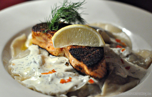 Salmon Filet with Vareniki at Moscow on the Hill ~ St Paul, MN