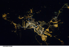 Brasilia, Brazil at Night (NASA, International Space Station, 01/08/11) (NASA's Marshall Space Flight Center) Tags: brazil nasa cerrado savannah 1001nights brasilia planaltocentral ceilandia lakeparanoa brasilianationalpark stationscience crewearthobservation 1001nightsmagiccity stationresearch