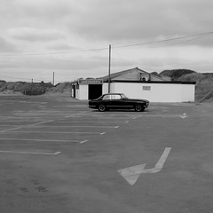CAMBER SANDS (davemason) Tags: bristol mono kent seaside cambersands coastal carpark
