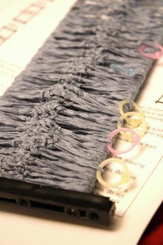 Hairpin lace shawl UFO