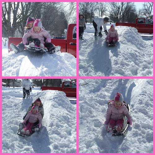 Jilly & Bree snow ramp