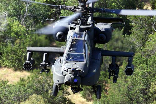 フリー写真素材, 乗り物, 航空機, ヘリコプター, AH- アパッチ, アメリカ陸軍,
