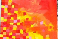 squares (iluska.ikeda) Tags: red orange yellow painting acrylic squares