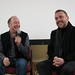 Craig Anderson and Lee Boardman (Loz) at the post-screening Q and A, Kingussie, Scotland, Food On Film Festival
