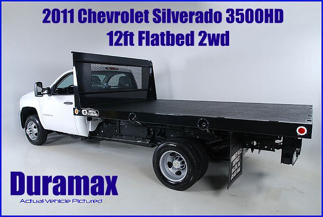 chevrolet 4wd silverado picnik flatbed 2011 12ft 3500hd