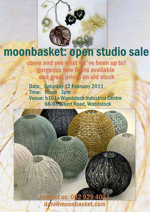 moonbasket, crochet lighting