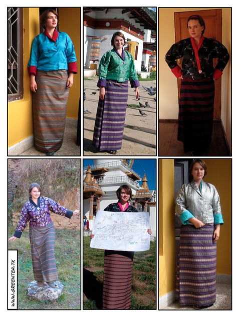 Andrea in Bhutan fashion