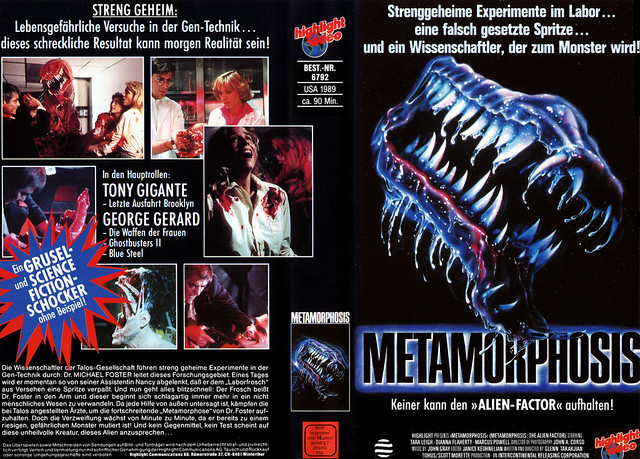 Metamorphosis (VHS Box Art)