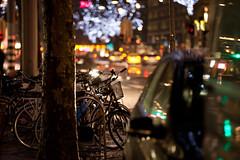 Night Air (Gatria) Tags: street city light 2 holland netherlands bicycle night canon lens lights rotterdam europa europe nacht bokeh mark seat nederland ii 200 l 5d 28 mm 70 ef mk saddle lichter niederlande sattel fahrad