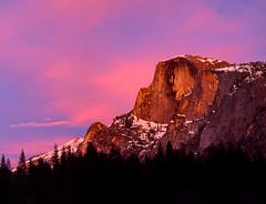 Sunset Sky, Yosemite (BJ Anderson) Tags: trees winter sunset sky snow clouds nationalpark halfdome yosemitenationalpark nikond2x nikon2550ais