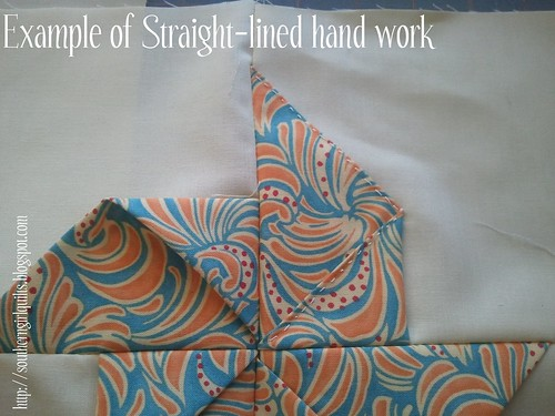 Example of straight hand work