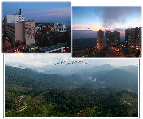 Skyline at Resorts World Genting, the City of Entertainment in Genting Highlands, Pahang, Malaysia
