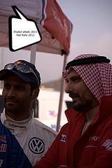 Abdullah Bakhashab - Nasser Al Attiyah ( Khaled albakr ~) Tags: canon nikon d3x d3s d3 d3000 d90 d300s d7000 d80 550d 500d 450d 70200 ii 5d 7d hail rally 2011                          50    eye