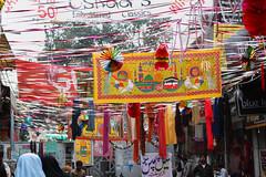 Eid-e-Milad un Nabi Decorations at Dupatta Gali (klodhie) Tags: pakistan work store clothing alley embroidery muslim islam eid un e bead bazaar kiran lahore prophet gali milad muhammad nabi shope dupatta lodhie
