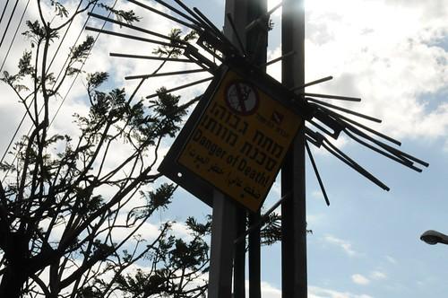 Power pole warning