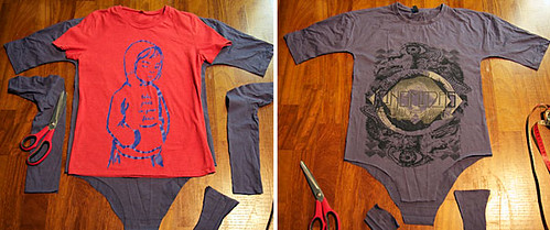 OutsaPop tutorial t-shirt bodysuit STEP 3