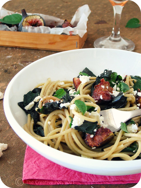 Fig, Spinach & Feta Spaghetti g-w