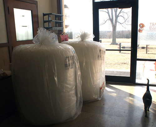Giant rolls of bubble wrap