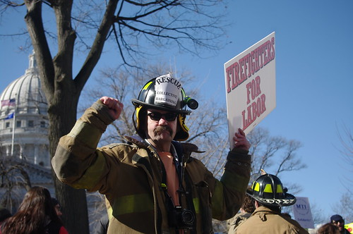 Firefighters for labor