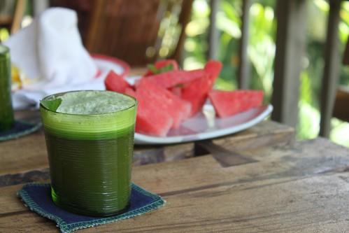 Vattenmelon och gröna drinken
