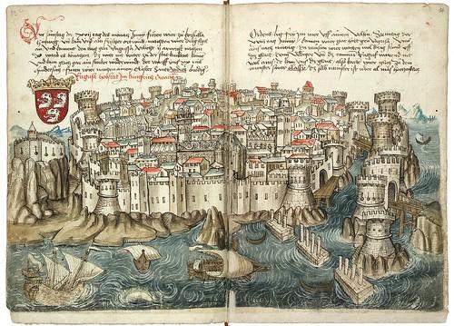 007-Dubrovnik-Konrad von Grünenberg- Beschreibung der Reise von Konstanz nach Jerusalem 1487- © 2010 Badische Landesbibliothek