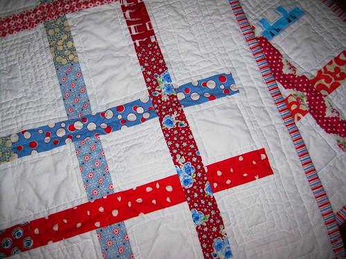 square dance quilt detail